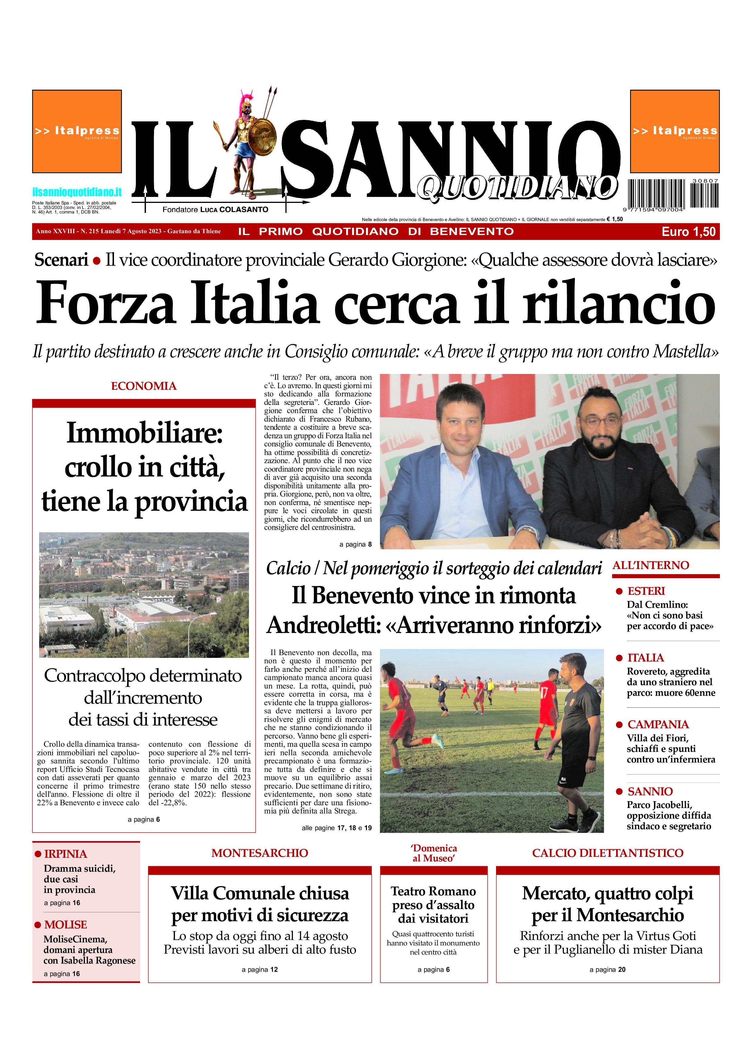 Il Sannio Quotidiano - Prima pagina